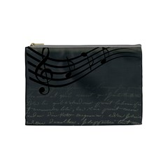 Music Clef Background Texture Cosmetic Bag (Medium)
