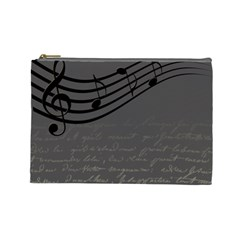 Music Clef Background Texture Cosmetic Bag (Large)
