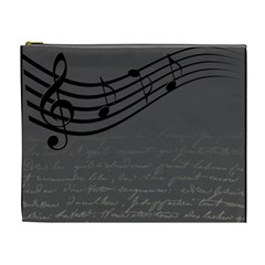Music Clef Background Texture Cosmetic Bag (xl)