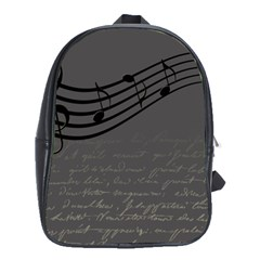 Music Clef Background Texture School Bags(Large)