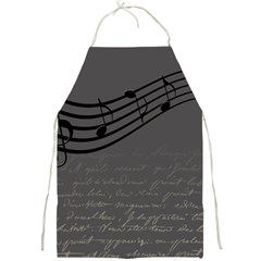 Music Clef Background Texture Full Print Aprons