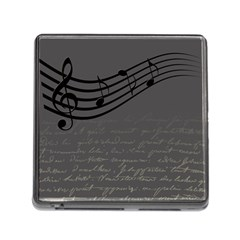Music Clef Background Texture Memory Card Reader (square)