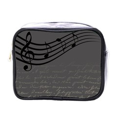 Music Clef Background Texture Mini Toiletries Bags