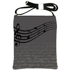 Music Clef Background Texture Shoulder Sling Bags
