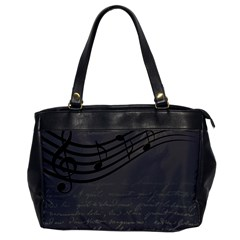 Music Clef Background Texture Office Handbags