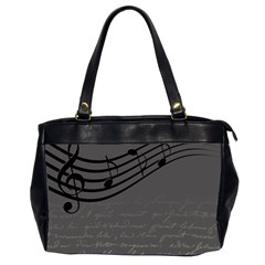 Music Clef Background Texture Office Handbags (2 Sides)
