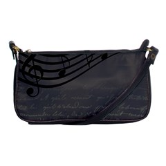 Music Clef Background Texture Shoulder Clutch Bags