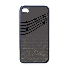 Music Clef Background Texture Apple iPhone 4 Case (Black)