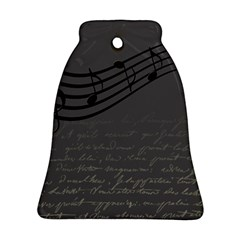 Music Clef Background Texture Bell Ornament (Two Sides)