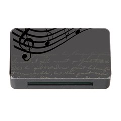 Music Clef Background Texture Memory Card Reader with CF