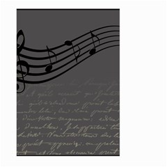 Music Clef Background Texture Large Garden Flag (Two Sides)