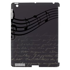 Music Clef Background Texture Apple Ipad 3/4 Hardshell Case (compatible With Smart Cover)