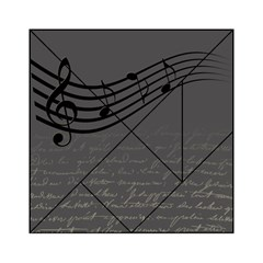 Music Clef Background Texture Acrylic Tangram Puzzle (6  X 6 )