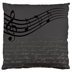 Music Clef Background Texture Large Cushion Case (two Sides)