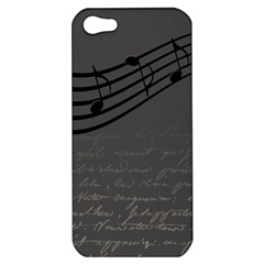 Music Clef Background Texture Apple iPhone 5 Hardshell Case