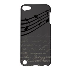 Music Clef Background Texture Apple Ipod Touch 5 Hardshell Case