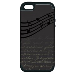 Music Clef Background Texture Apple iPhone 5 Hardshell Case (PC+Silicone)