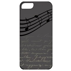 Music Clef Background Texture Apple iPhone 5 Classic Hardshell Case