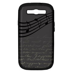Music Clef Background Texture Samsung Galaxy S Iii Hardshell Case (pc+silicone)