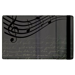 Music Clef Background Texture Apple Ipad 2 Flip Case