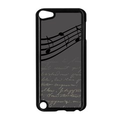 Music Clef Background Texture Apple Ipod Touch 5 Case (black)