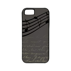 Music Clef Background Texture Apple iPhone 5 Classic Hardshell Case (PC+Silicone)