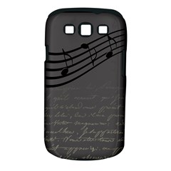 Music Clef Background Texture Samsung Galaxy S Iii Classic Hardshell Case (pc+silicone)