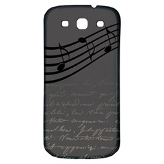 Music Clef Background Texture Samsung Galaxy S3 S III Classic Hardshell Back Case