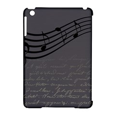 Music Clef Background Texture Apple Ipad Mini Hardshell Case (compatible With Smart Cover)