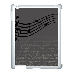 Music Clef Background Texture Apple Ipad 3/4 Case (white)