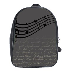Music Clef Background Texture School Bags (XL)