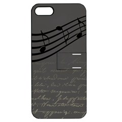 Music Clef Background Texture Apple iPhone 5 Hardshell Case with Stand