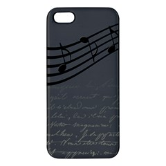 Music Clef Background Texture Apple iPhone 5 Premium Hardshell Case