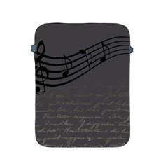 Music Clef Background Texture Apple Ipad 2/3/4 Protective Soft Cases