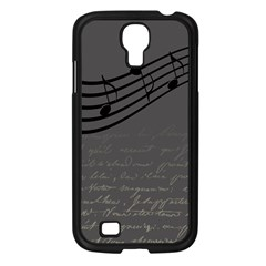 Music Clef Background Texture Samsung Galaxy S4 I9500/ I9505 Case (black)