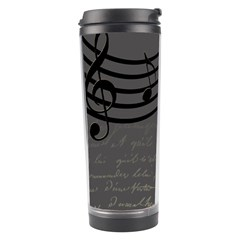 Music Clef Background Texture Travel Tumbler