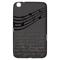 Music Clef Background Texture Samsung Galaxy Tab 3 (8 ) T3100 Hardshell Case