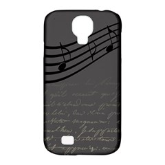 Music Clef Background Texture Samsung Galaxy S4 Classic Hardshell Case (pc+silicone)
