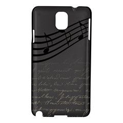Music Clef Background Texture Samsung Galaxy Note 3 N9005 Hardshell Case
