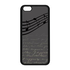 Music Clef Background Texture Apple Iphone 5c Seamless Case (black)