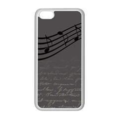 Music Clef Background Texture Apple iPhone 5C Seamless Case (White)