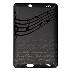 Music Clef Background Texture Amazon Kindle Fire Hd (2013) Hardshell Case