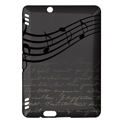Music Clef Background Texture Kindle Fire HDX Hardshell Case