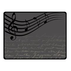 Music Clef Background Texture Double Sided Fleece Blanket (small)