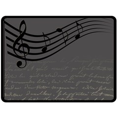 Music Clef Background Texture Double Sided Fleece Blanket (large)