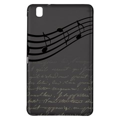 Music Clef Background Texture Samsung Galaxy Tab Pro 8 4 Hardshell Case
