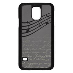 Music Clef Background Texture Samsung Galaxy S5 Case (Black)