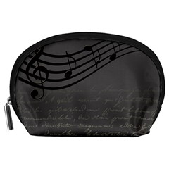 Music Clef Background Texture Accessory Pouches (large)