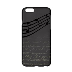 Music Clef Background Texture Apple iPhone 6/6S Hardshell Case