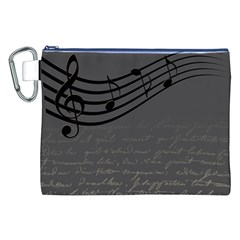 Music Clef Background Texture Canvas Cosmetic Bag (xxl)